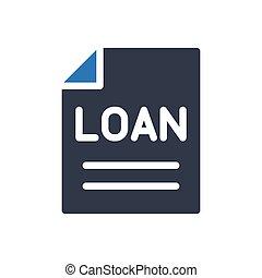 loan glyph color icon