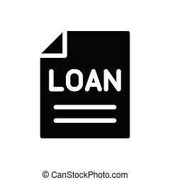 loan glyph flat icon