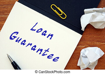 Loan Guarantee phrase on the sheet.