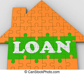 Loan House Shows Mortgage To Purchase Property - Loan House ...