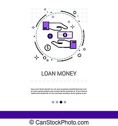 Loan Money Business Investment Web Banner With Copy Space
