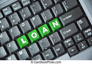 Loan on keyboard