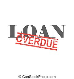 Loan Overdue Word Stamp