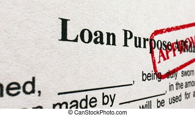 Loan purpose affidavit approved camera slide