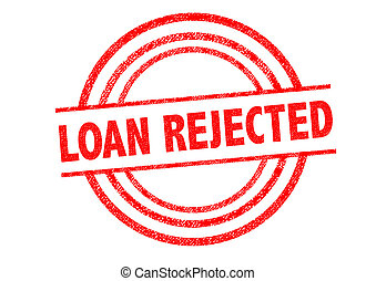 LOAN REJECTED Rubber Stamp