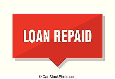 loan repaid red tag - loan repaid red square price tag