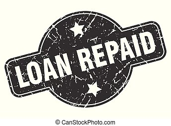 loan repaid round grunge isolated stamp
