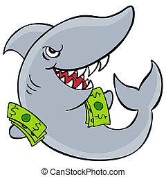 An image of a loan shark.