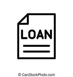 loan thin line icon