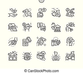 Loan Well-crafted Pixel Perfect Vector Thin Line Icons 30 2x...