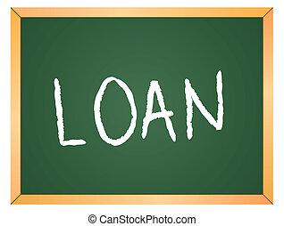 loan word on chalkboard
