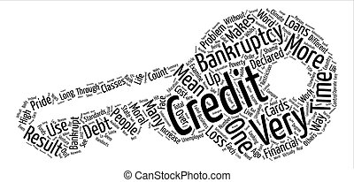Loans And Credit Cards And Bankruptcy text background...