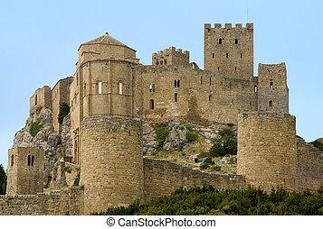 Loarre Castle in Huesca province, Aragon, Spain