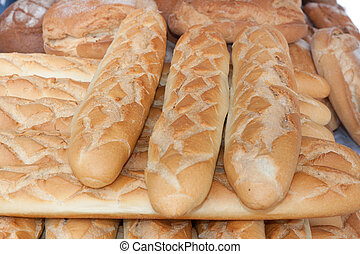 loaves of bread - loaves of white wheat bread