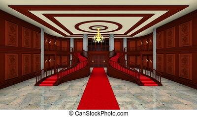 Lobby - 3D CG rendering of lobby.