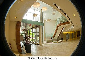lobby, escritório, circular
