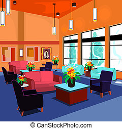 Lobby - A lobby that is relaxing and comfortable while...