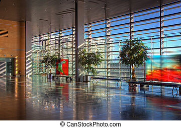 Lobby of Arlanda airport - View of the lobby of Arlanda...