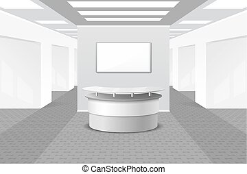 Lobby or reception interior. Office and furniture, business...