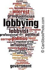 Lobbying word cloud concept. Vector illustration