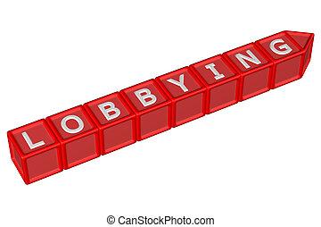 lobbying, wort, blöcke