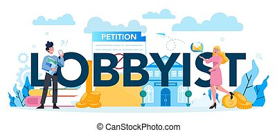 Lobbyist and lobby concept set. Professional pr specialist ...