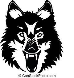 lobo, ilustración