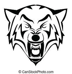 lobo, rosto