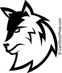 lobo, símbolo, desenho, ilustração