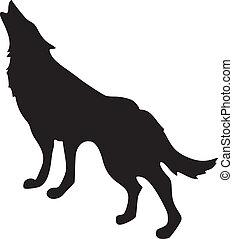 lobo, silueta
