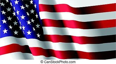 lobogó, amerikai, hullámzás