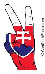 lobogó, béke, szlovák, aláír
