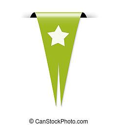 lobogó, csillag, ikon