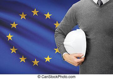 lobogó, -, egyesítés, háttér, európai, építészmérnök
