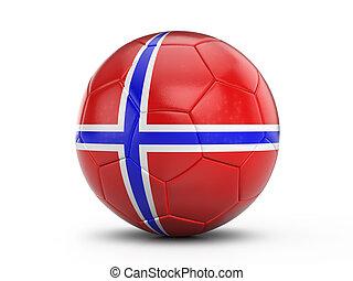 lobogó, futball, norvégia, labda