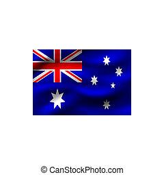 lobogó, közül, australia.
