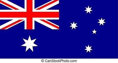 lobogó, közül, ausztrália, alatt, nemzeti, befest, vector.