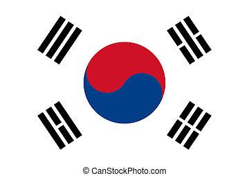 lobogó, közül, dél-korea