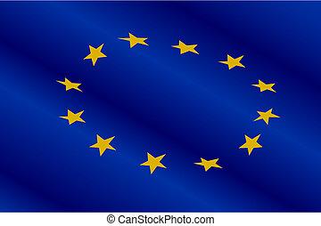 lobogó, közül, európa, egyesítés
