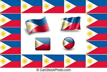 lobogó, közül, fülöp-szigetek