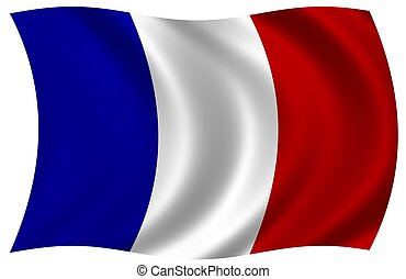 lobogó, közül, franciaország