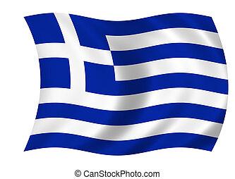 lobogó, közül, görögország