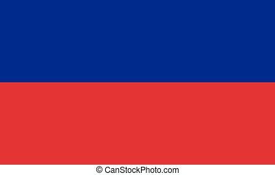 lobogó, közül, haiti, alatt, nemzeti, befest, vector.
