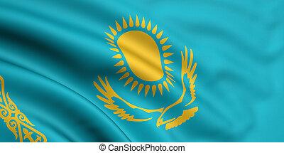 lobogó, közül, kazaksztán
