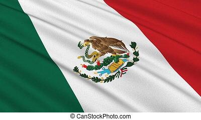 lobogó, közül, mexikó, seamless, bukfenc