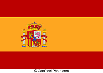 lobogó, közül, spanyolország