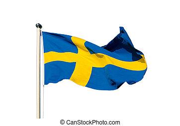 lobogó, közül, svédország