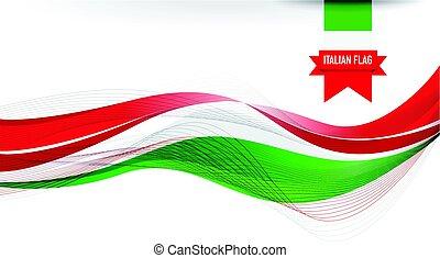 lobogó, olasz