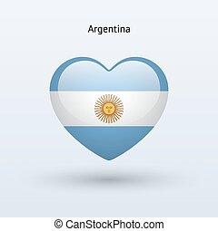 lobogó, szív, icon., szeret, jelkép.