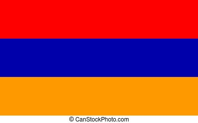 lobogó, vektor, ábra, örményország